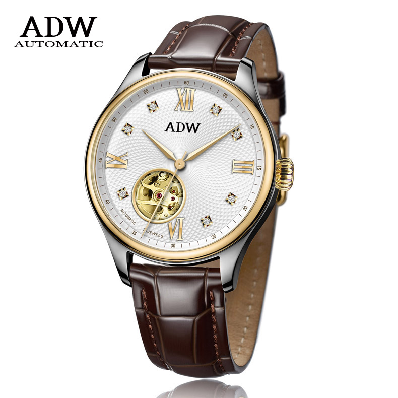 ADW手表商务镂空机械-真皮表带206202